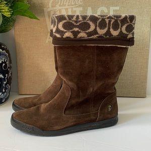 Coach Tatum suede brown boots size 8 US